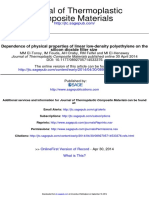 Dependence of Physical Properties of Lldpe on the Silicon Dioxide Filler