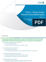 China – Rising Foreign Demand Amid Deleveraging