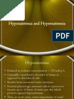 Hypo Hypernatremia
