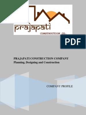 Prajapati Construction Company Profile | Project Management