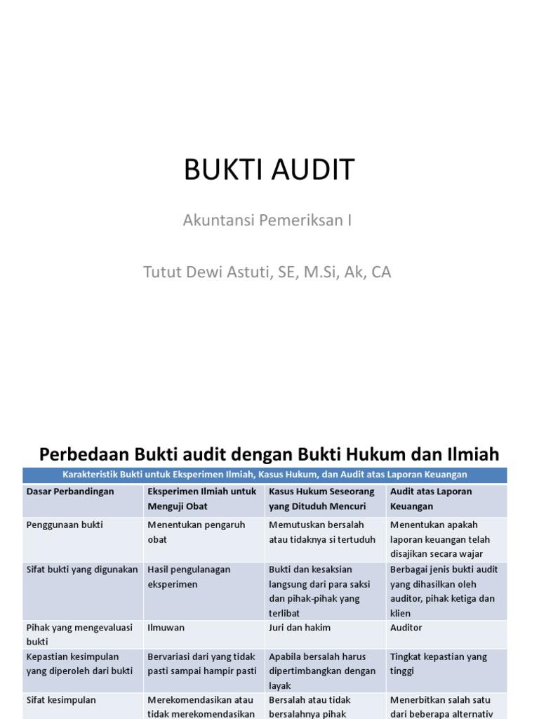 Materi Bukti Audit Tambahan