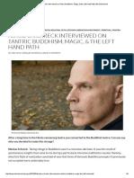 Nikolas Schreck Interviewed on Tantric Buddhism, Magic, & the Left Hand Path _ NikolasSchreck