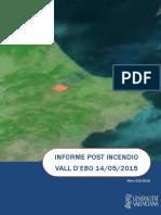 Informe Postincendio La Vall d'Ebo 14/05/2015