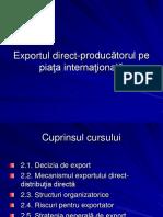 Exportul Direct- Producatorul Pe Piata Internationala