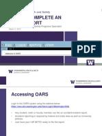 OARS Training 2014