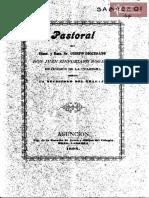 Pastoral del Obispo Juan Sinforiano Bogarín en la ocasión de la Cuaresma sobre la necesidad del trabajo. Asunción 1898