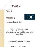 PRE TEST 07 Pengaturan Ekspresi Gen 2012