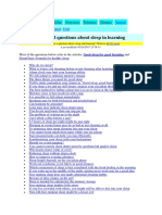 FAQ Sleep Learning