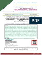 SIMULTANEOUS ESTIMATION OF MEFENAMIC ACID AND HYOSCINE-N-BUTYL BROMIDE BY NOVEL RP-HPLC METHOD IN BULK AND PHARMACEUTICAL DOSAGE FORM