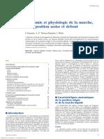 Anatomie Et Physiologie de La Marche, De La Position Assise Et Debout