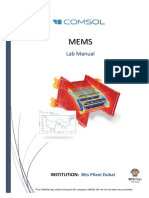 MEMS Lab Manual-Final