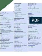 20170928 Formula Summary
