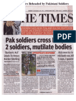 Indians Soldiers Beheaded by Pakistani Soldiers - May 2, 2017