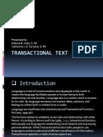 Transactional Text