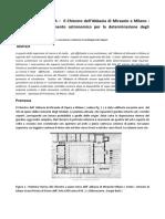 Archeoastronomia Il Chiostro Dell' Abbazia Di Mirasole a Milano Ipotesi Di Uno Strumento Astronomico Per La Determinazione Degli Equinozi