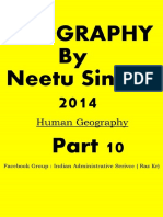 10. Human Geography by Neetu Singh Class Notes Part 10 of 14 by Raz Kr
