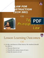 Topic 1a Week 1- Principles of Law