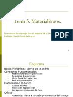 Tema 51. Materialismos