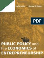 Public Policy and the Economics of Entrepreneurship 2004 01