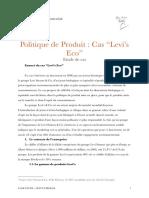 Politique de Produit Case Study Levis Co