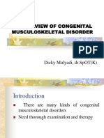 Overview Congenital Musculoskeletal Disorder