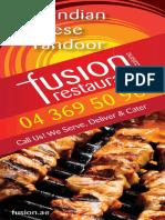 Fusion Restaurant Menu