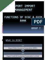 Functions of ECGC