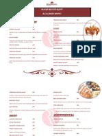 Menu Card of Maira Restaurant
