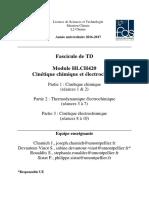 TD HLCH420 Cinétique Chimique 16-17