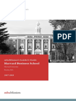 MbaMission Harvard Business School Insiders Guide 2017 2018