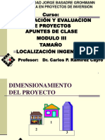 Modulo III Tamaño Localizacion Ingenieria
