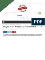 Analysis of the Professor by Nissim Ezekiel Beamin