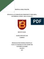 Proposal Pengajuan Kerja Praktik PT. Pertamina Geothermal Energy Area Kamojang