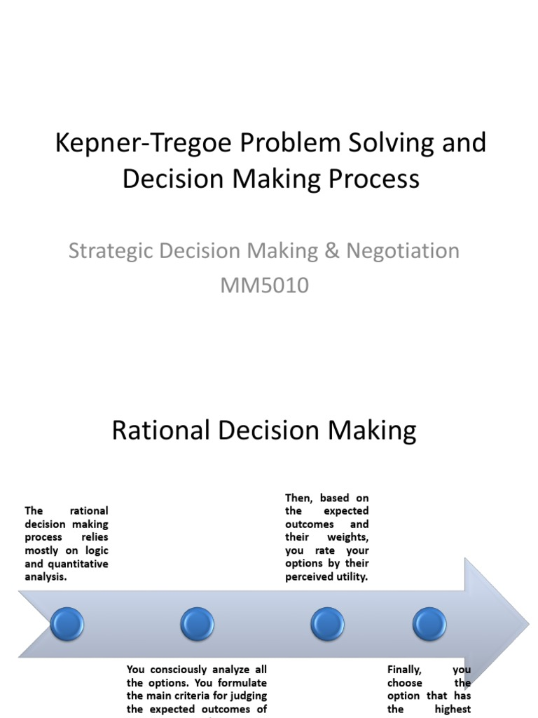 kepner-tregoe problem solving and decision making review