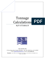 Tonnage Calcuations
