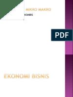 Kd 1 Bab 1. 3.1 Ekonomi Bisnis
