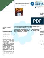 Curriculum Vitae Alegeri Consiliul Elevilor 2014