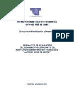 4) Normativa de Evaluacion Del Rend Est. Iutajs 2001