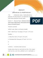 02 Registration Form, Originality and Curriculum Vitae
