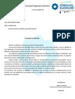Scrisoare de Intentie Alegeri Consiliul Elevilor 2014