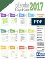 Calendário Escolar Duque de Caxias 2017