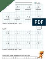 Cuaderno de Sumas y Restas Con Llevadas Hasta El 100