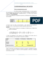 Analisis Bidimensional de Datos