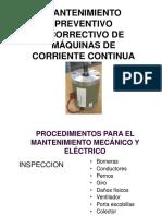 2.- Mantenimiento Preventivo Ycorrectivo de Máquinas de Corriente Continua
