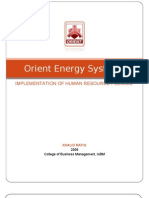Orient Energy Systems HRM Final Report (2)