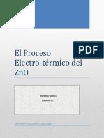Proceso Electro Termico Del Zinc