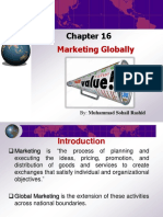Chapter # 16 - Marketing Globally