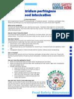 Clostridium Perfringens Food Safety 2011