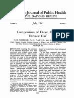 Diesel Engine Exhaust Gas