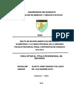 Tes=Delito de Incump de Oblig Alim y la Carga Proc